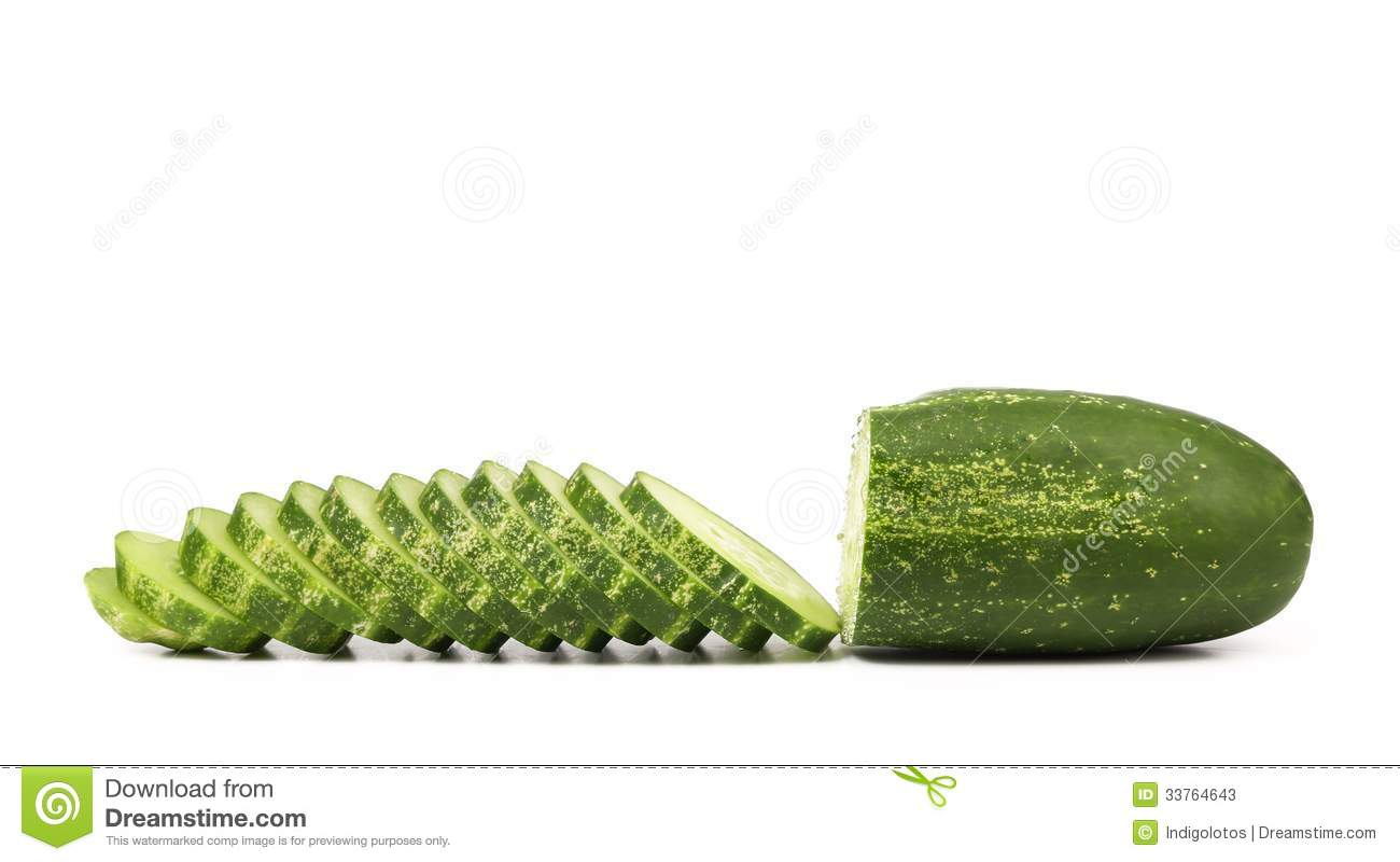Slices of cucmber.