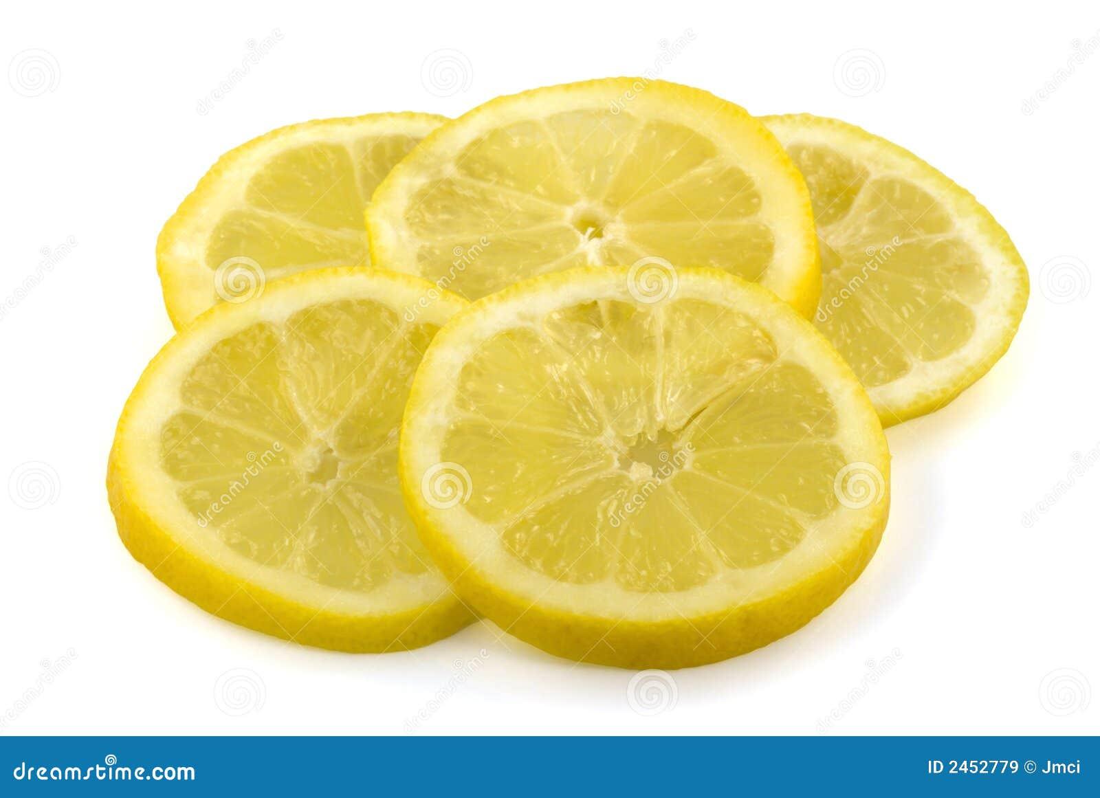 Slices Of Fresh Lemon Royalty Free Stock Images - Image: 2452779