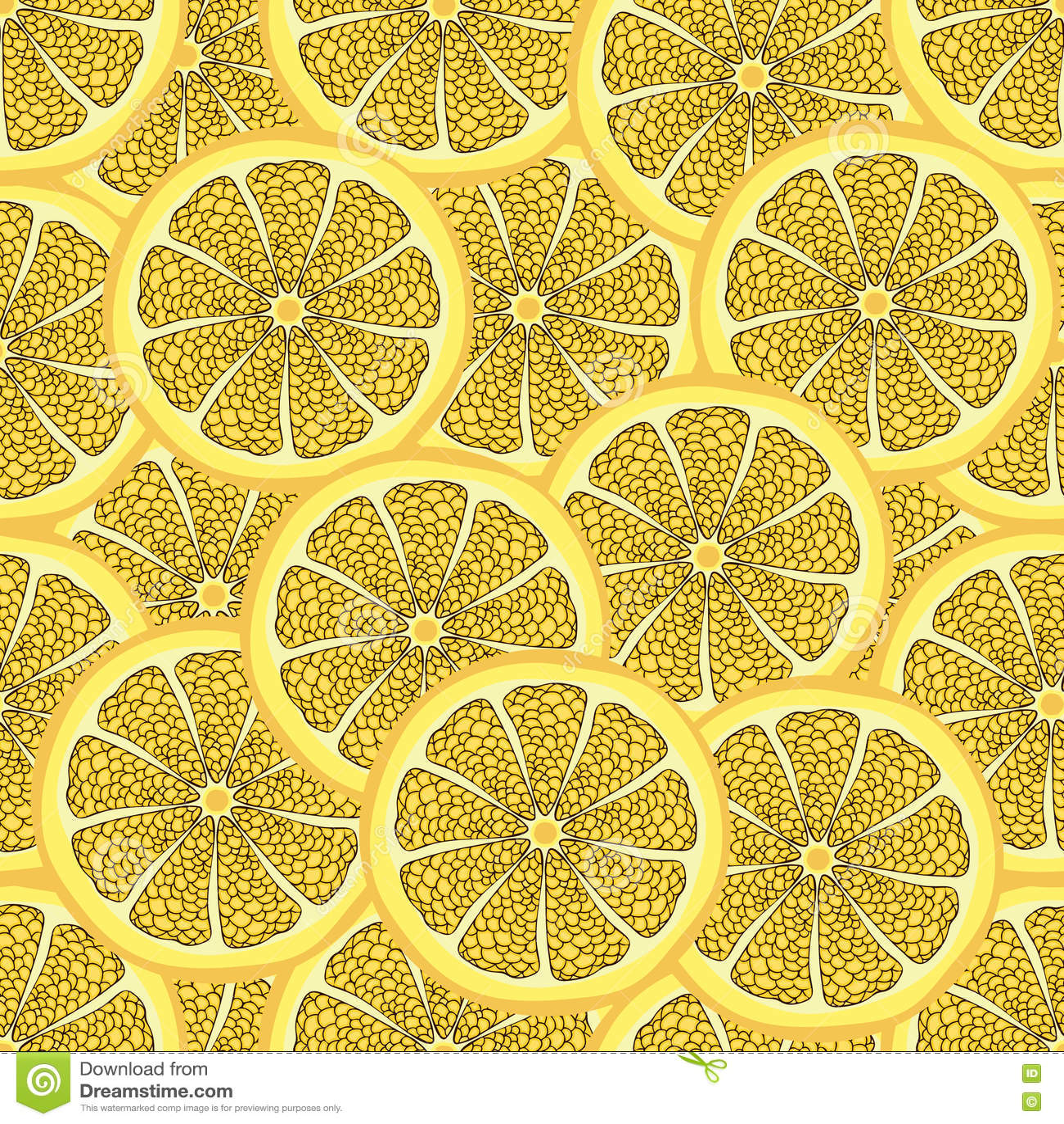 Slices Of Lemon In A Cut, Seamless Pattern, Fruit