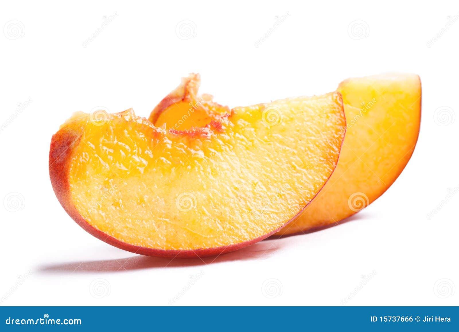 Slices Of Peach Stock Photography | CartoonDealer.com ...