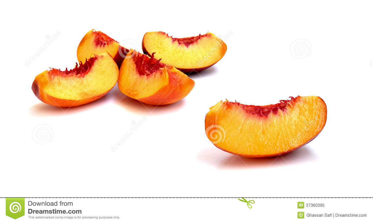 Slices Of A Peach Fruit Royalty Free Stock Photo - Image ...
