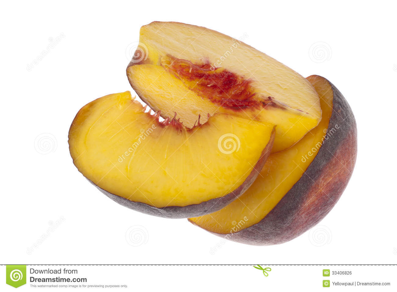 how to cut a peach into slices