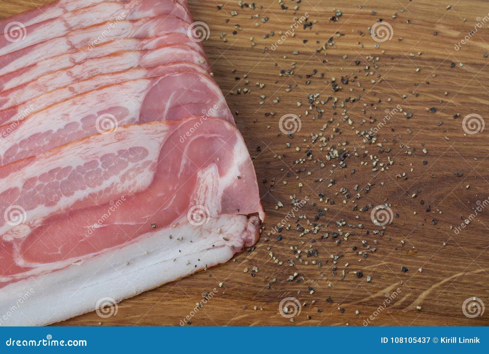 Download Ham on a wooden desk stock image. Image of prepared - 108105437