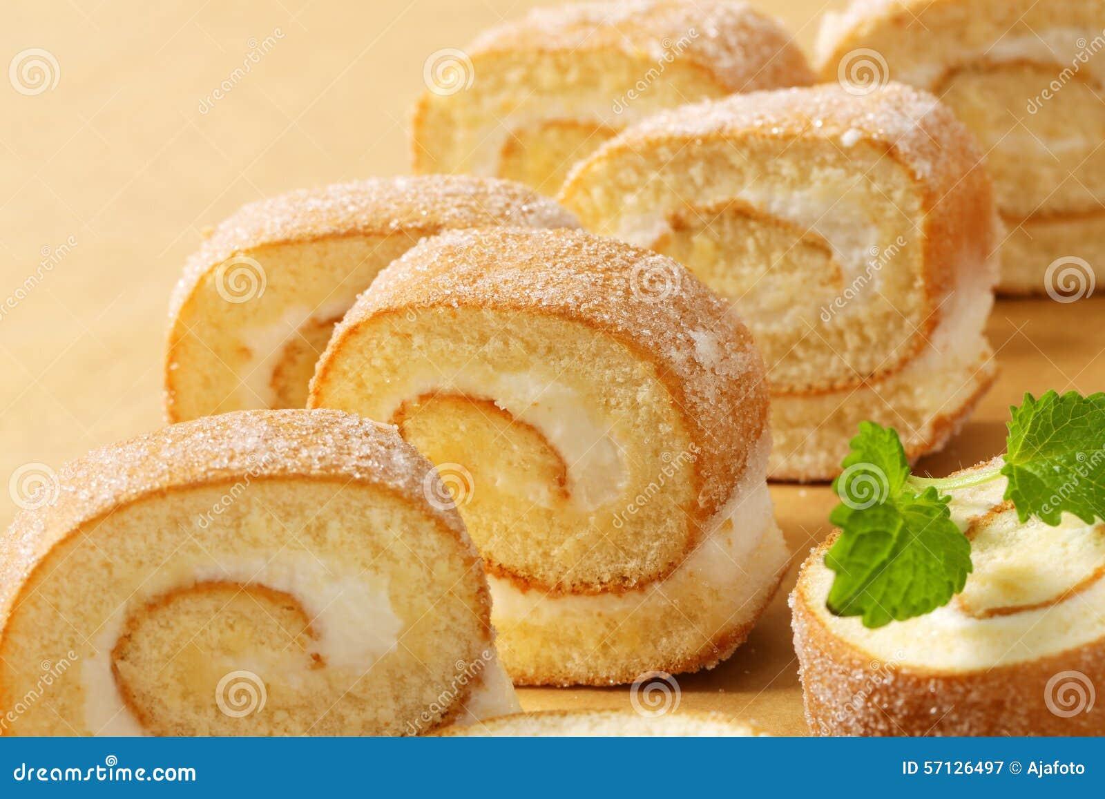 How To Make Sponge Roll Cake