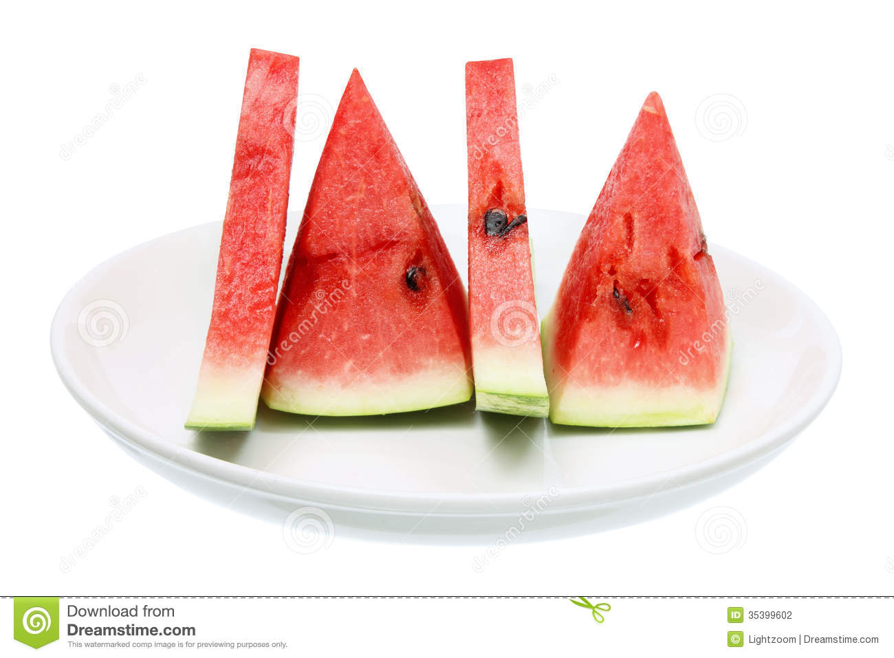 how to cut a slice of watermelon