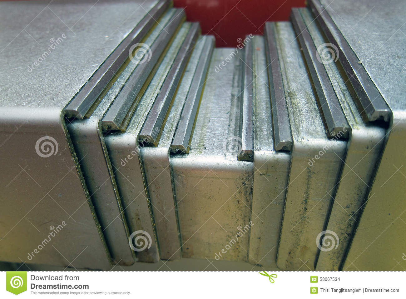 Slide cover stock photo image