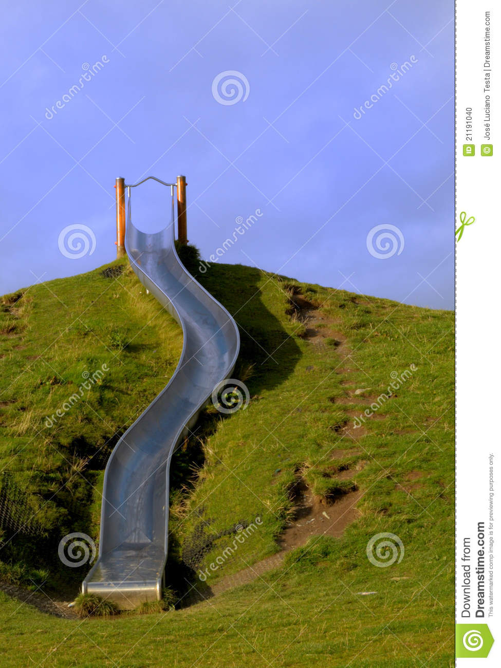 Slide On The Hill Stock Photo Image Of Metallic Heights