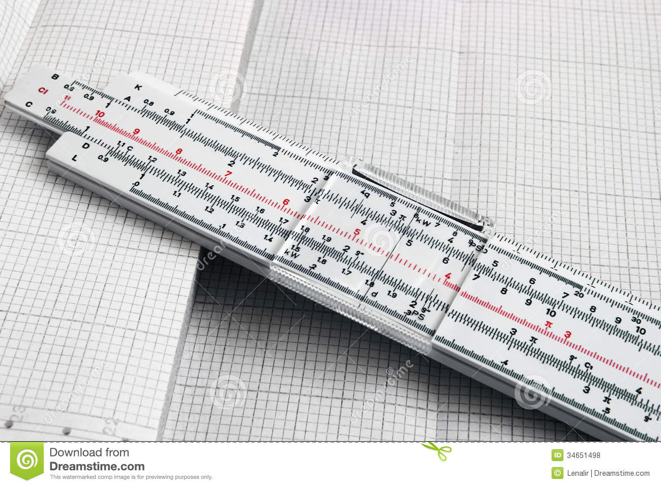 slide rule stock photo image of past graph account 34651498