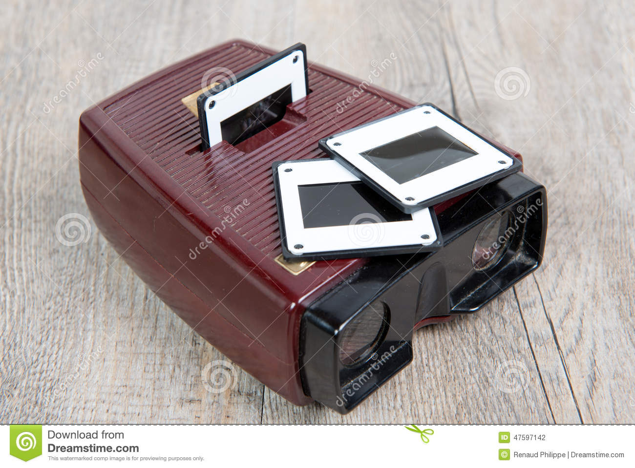 slides viewer with a few old slides stock photo image of
