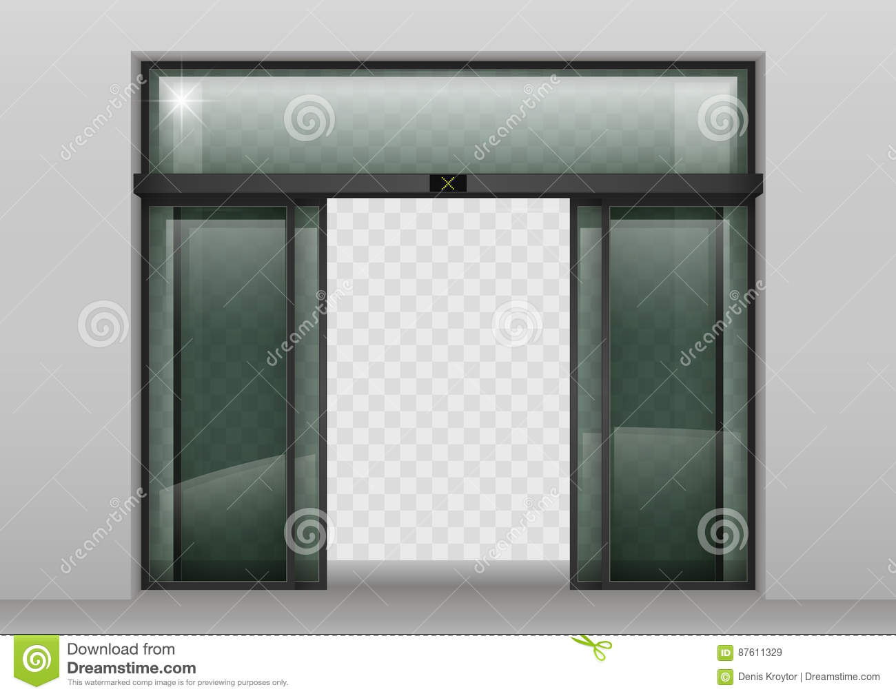 Sliding Glass Automatic Doors Stock Illustration Illustration Of