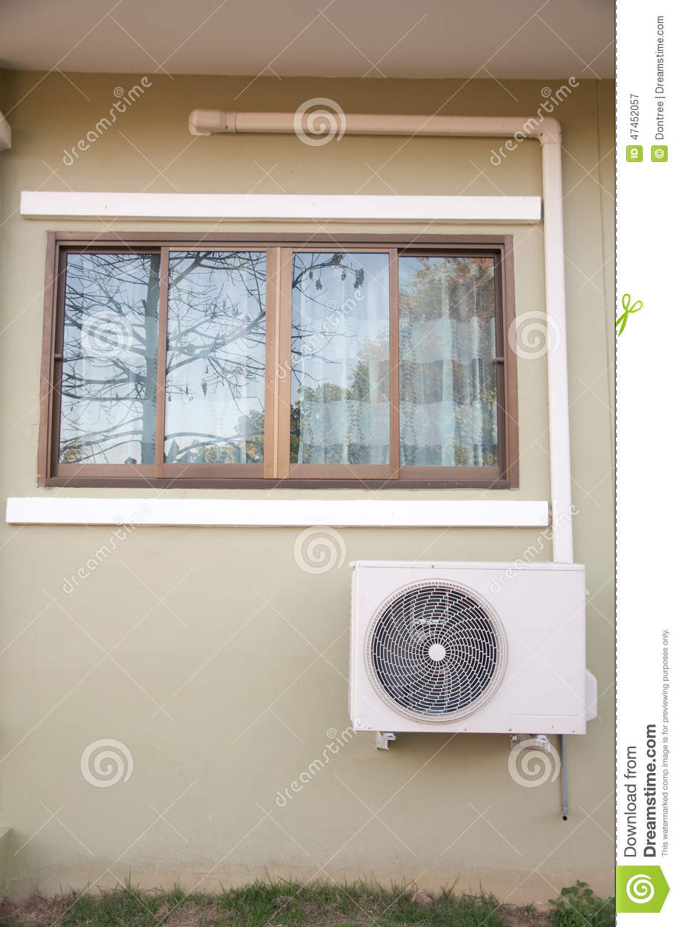 The Sliding Glass Window Stock Photo Image 47452057