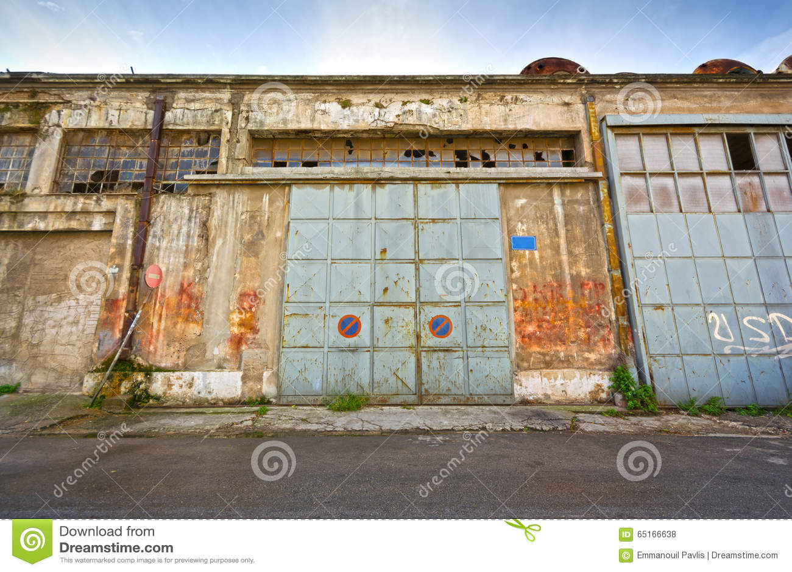 Sliding Metal Doors Stock Photo Image Of Bankruptcy 65166638