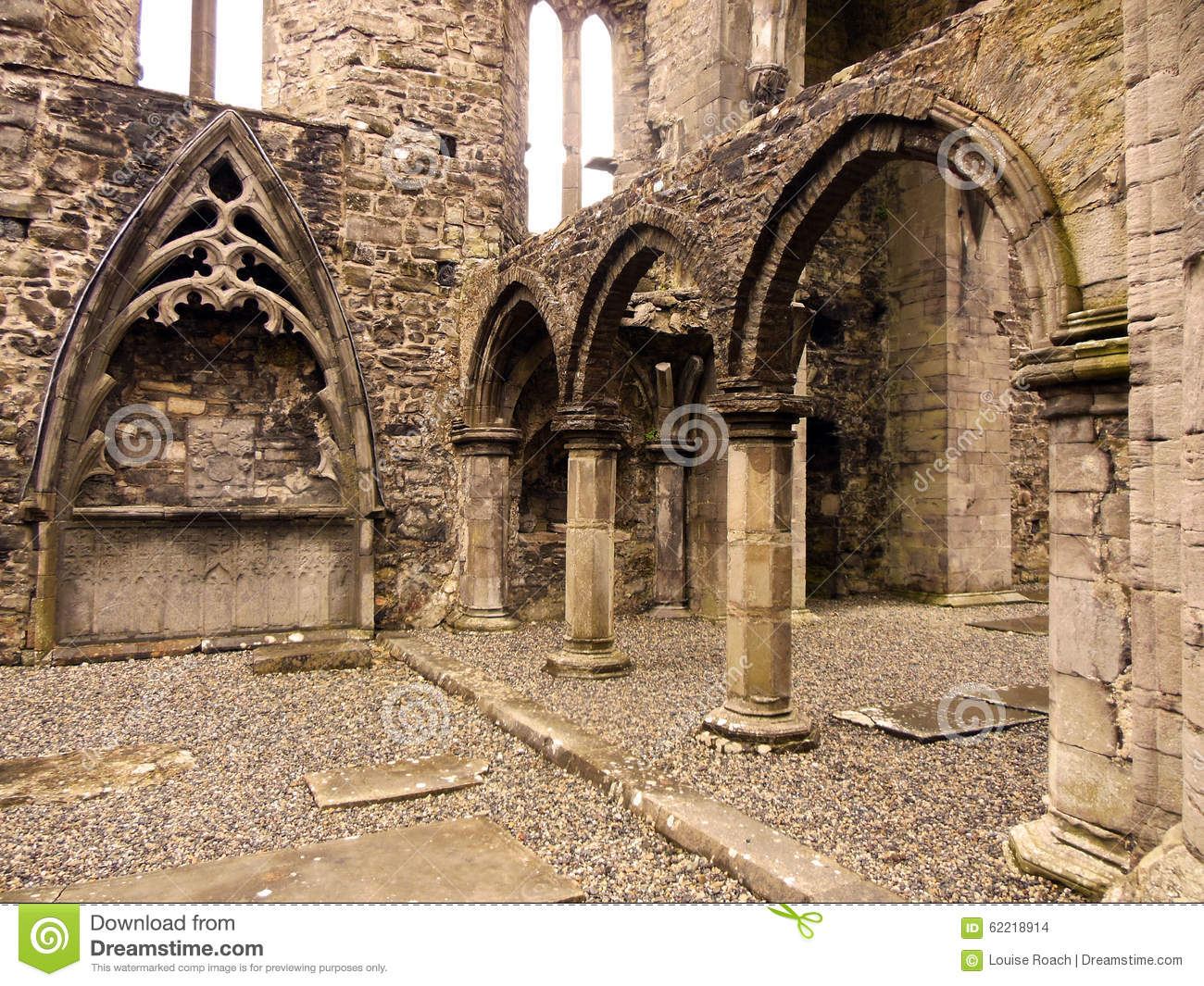 Sligo Abbey Interior Stock Photo