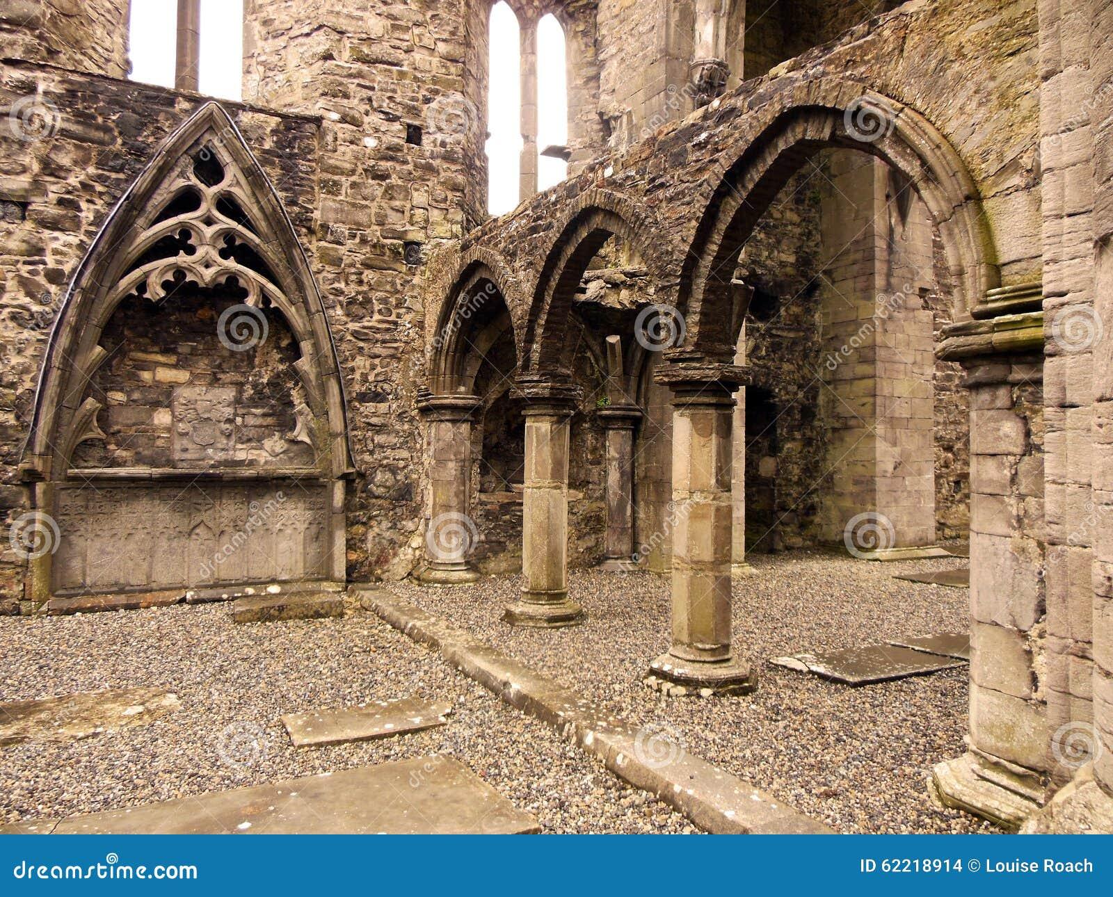 Sligo Abbey Interior Stock Photo
