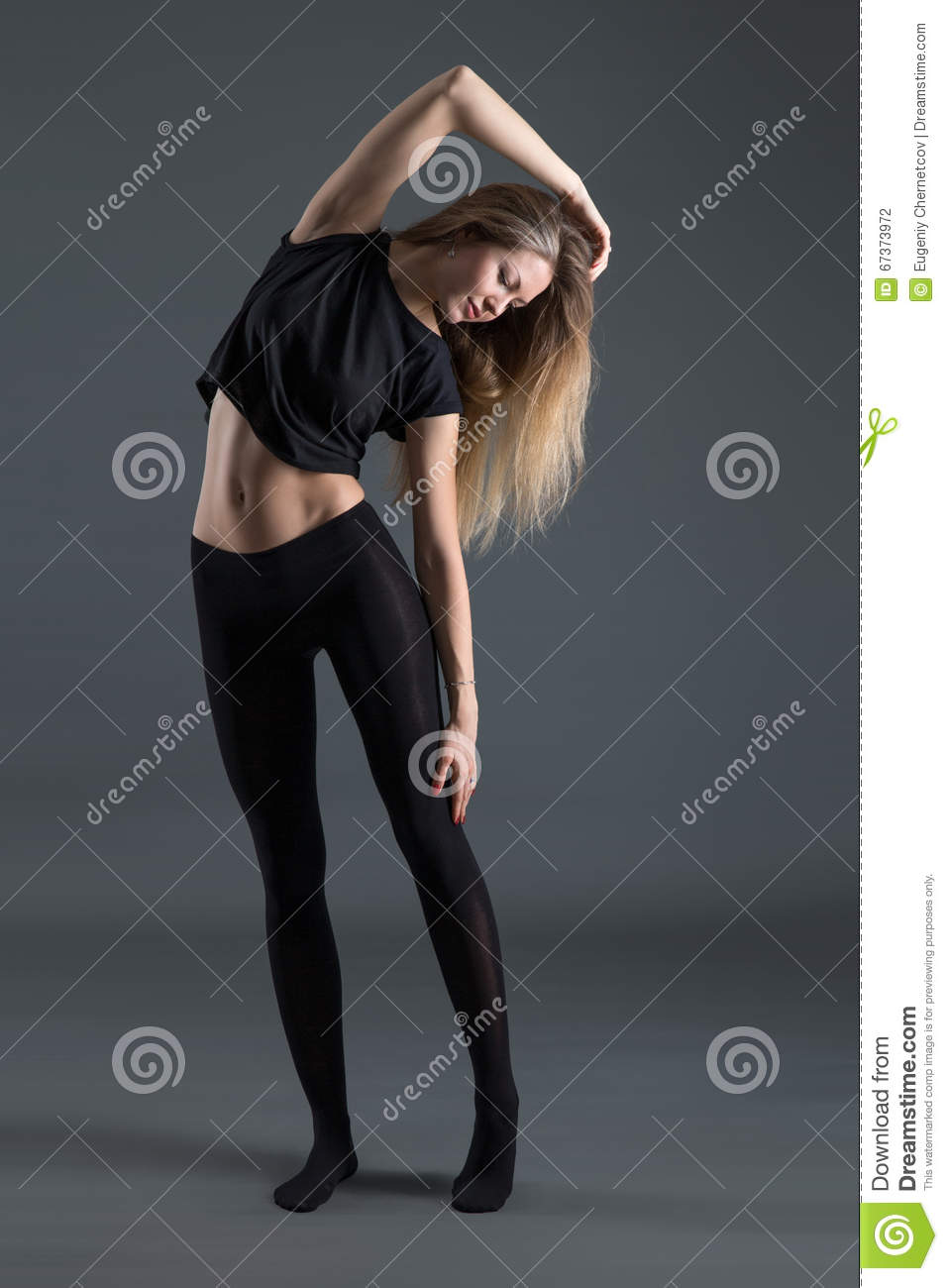 Slim athletic girl stock photo. Image of weight, pretty