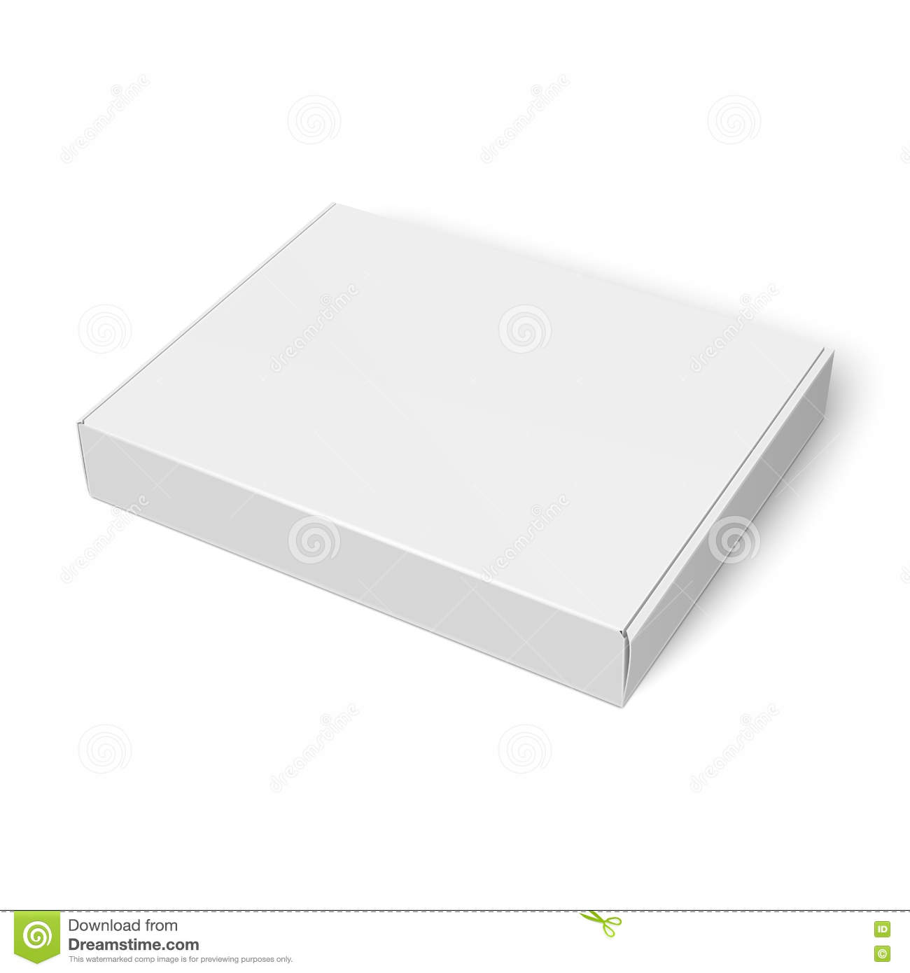 slim cardboard box template stock vector illustration of carton