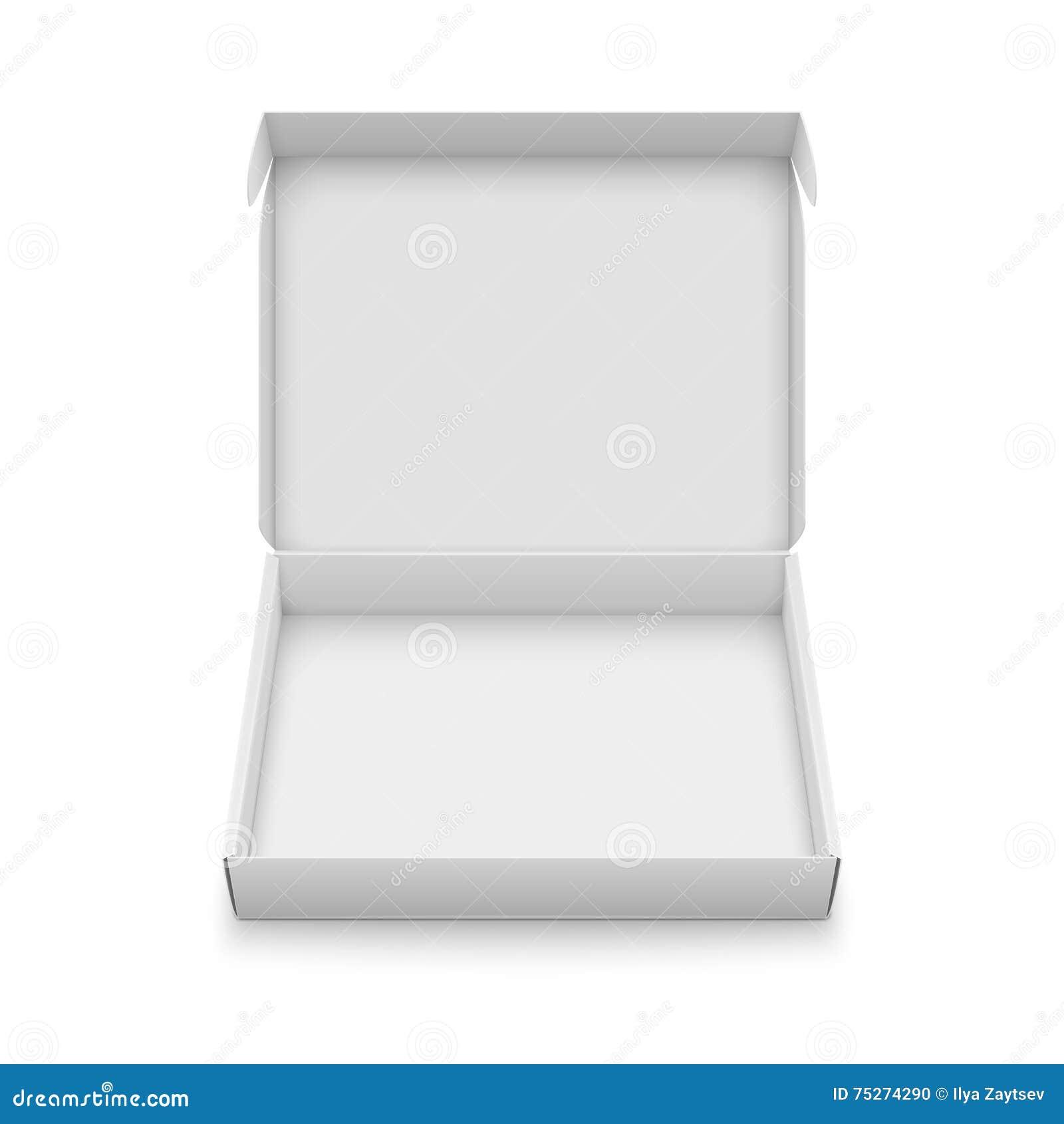 slim cardboard box template stock vector image 75274290