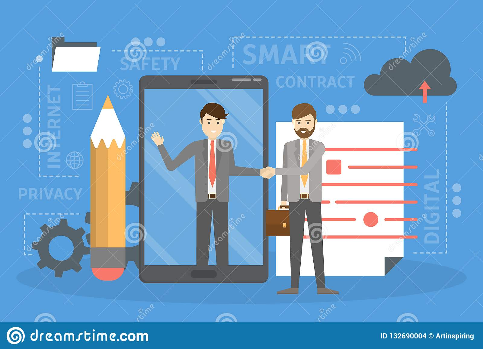 Slim contractconcept Een digitaal bedrijfsdocument