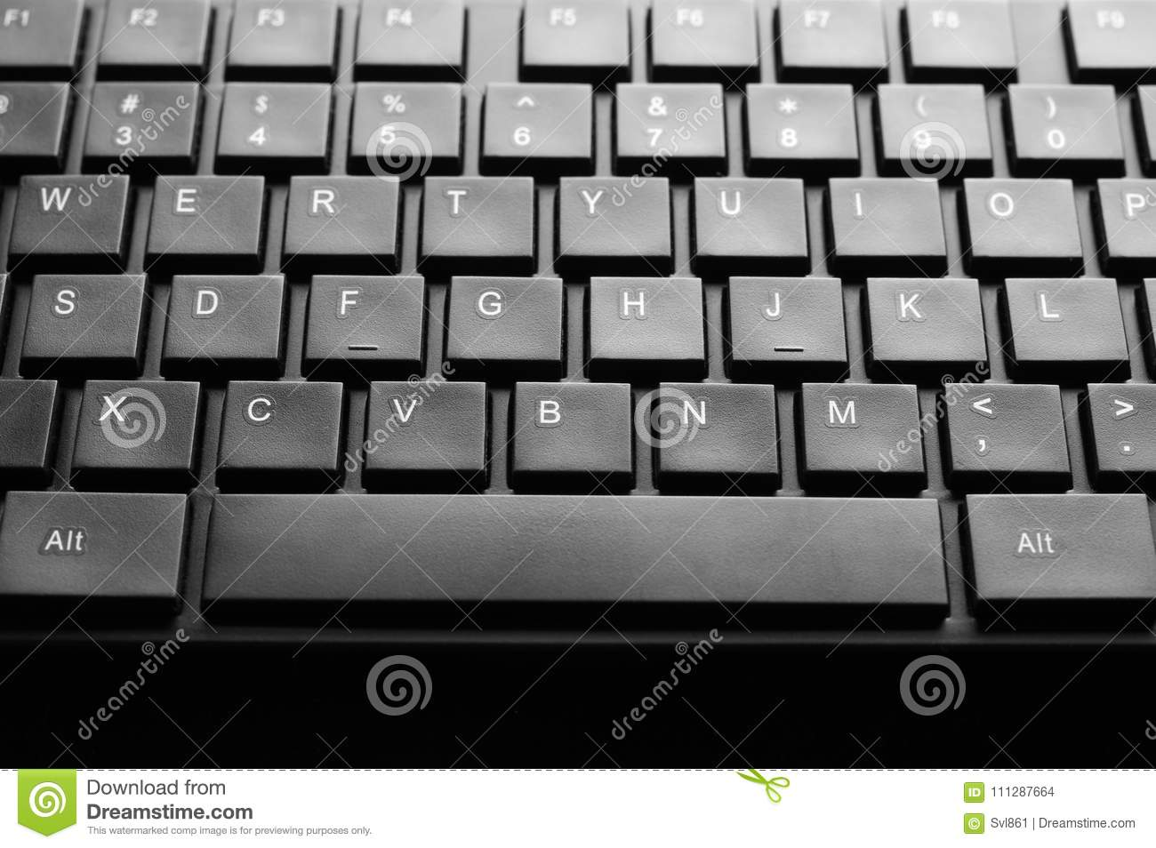 Computer keyboard close-up stock photo  Image of office