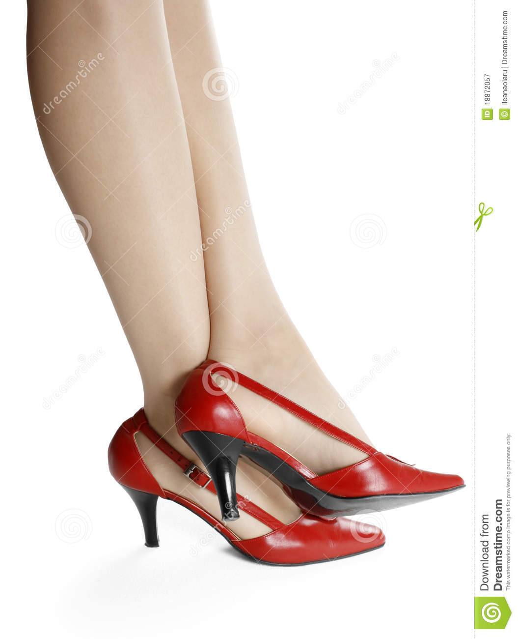 Slim Legs And Red Shoes Royalty Free Stock Photography ...