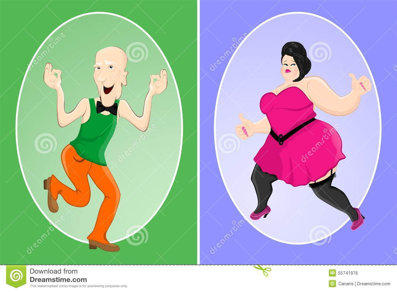 Slim Man and Fat Woman