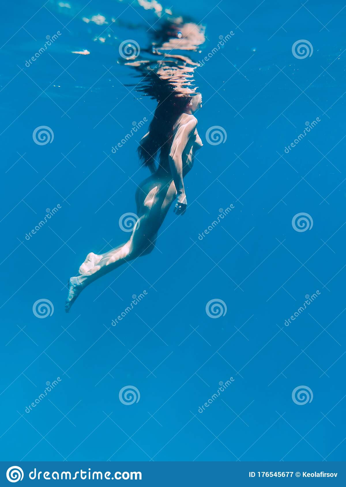 Blue naked women Slim Naked Woman Posing Underwater In Transparent Blue Ocean Nude Young Women Swimming In Sea Stock Image Image Of Caucasian Glamour 176545677