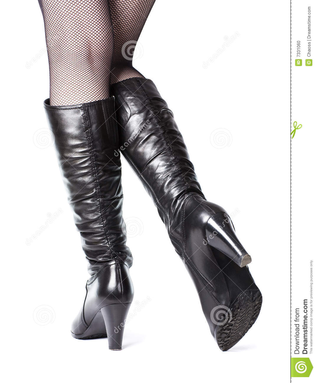 slim legs in leather boots stock photo image 7331060