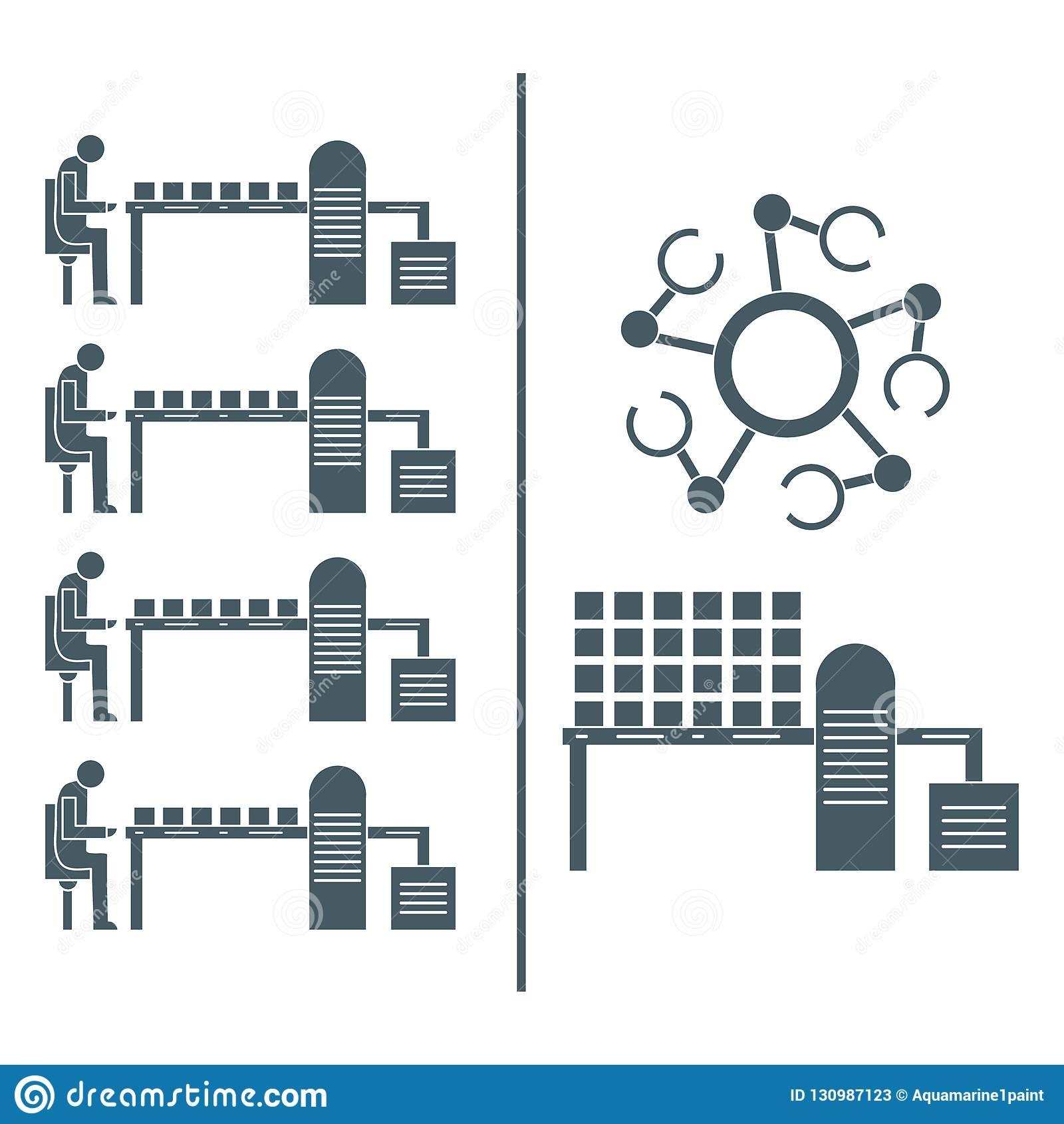 Slimme automatische robotachtige productielijn
