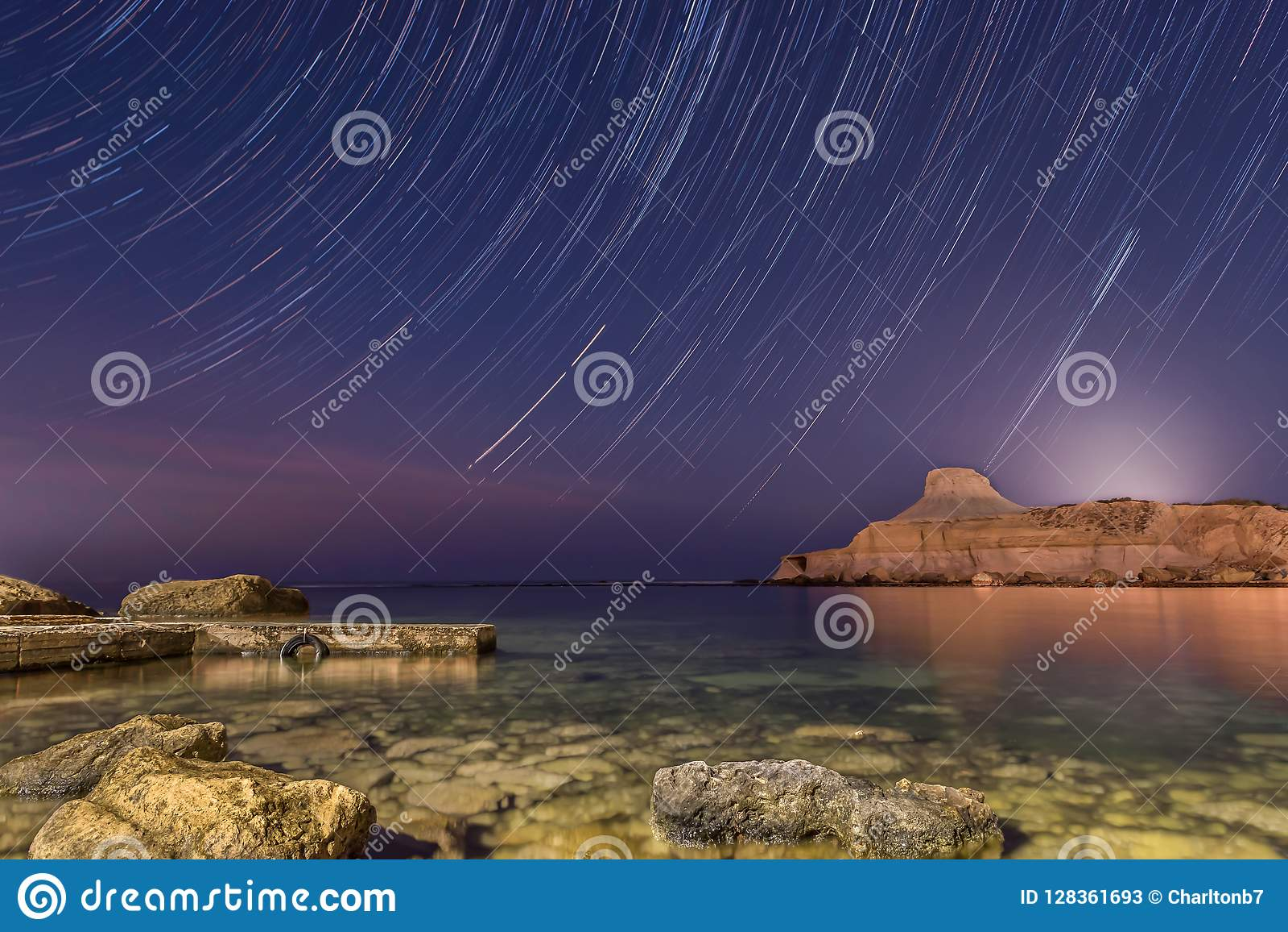 Slinga för stjärna för natthimmel