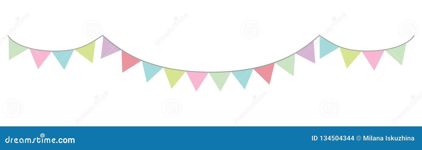 Slinger in pastelkleurenvector driehoekige kleurrijk