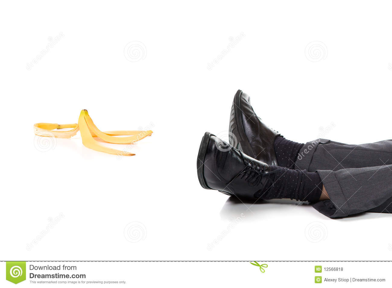 Slip And Fall Royalty Free Stock Photos - Image: 12566818