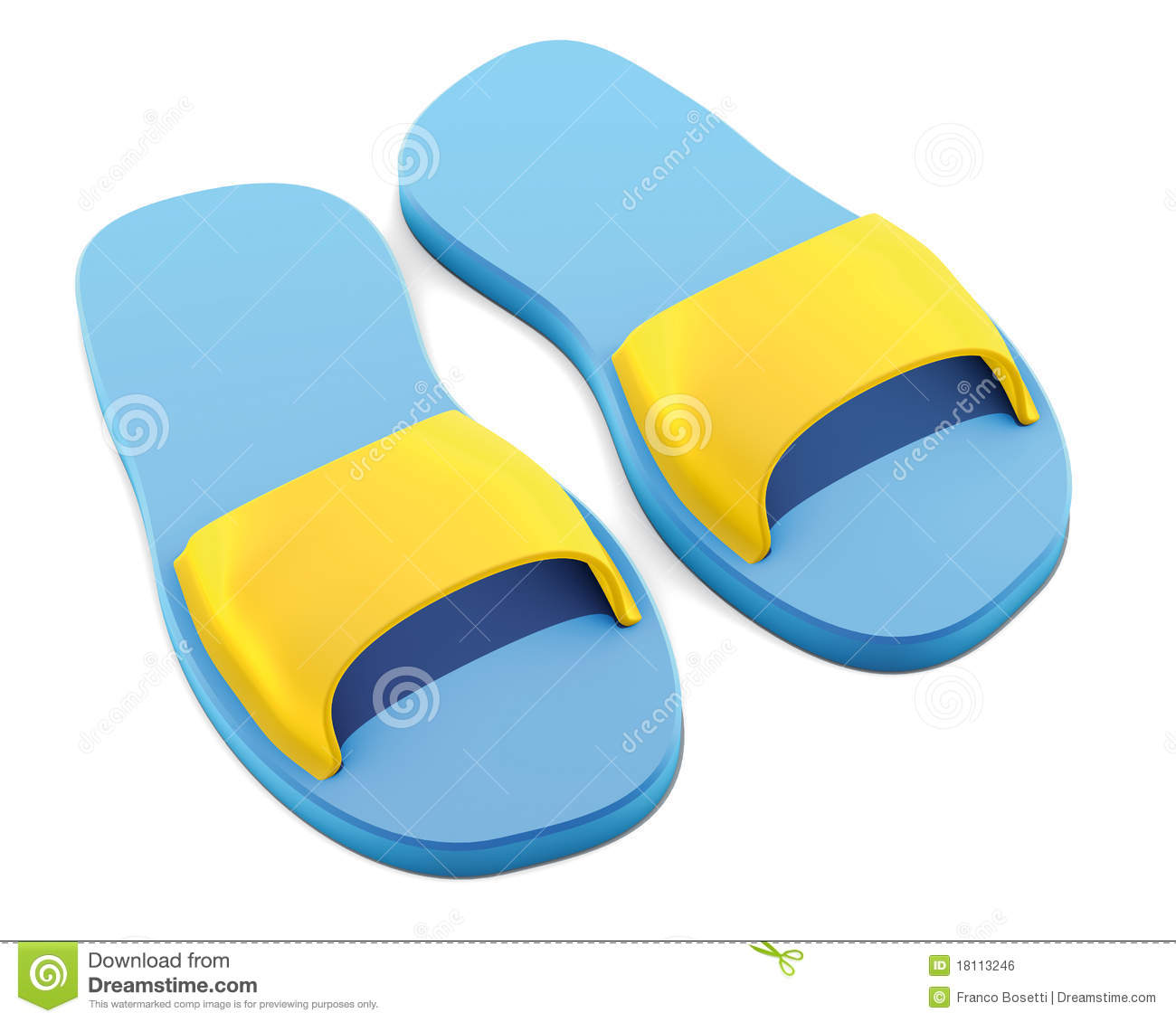 Slippers pool blue