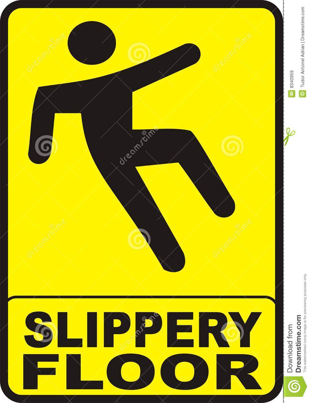 Slippery Floor Sign Royalty Free Stock Images - Image: 8340959