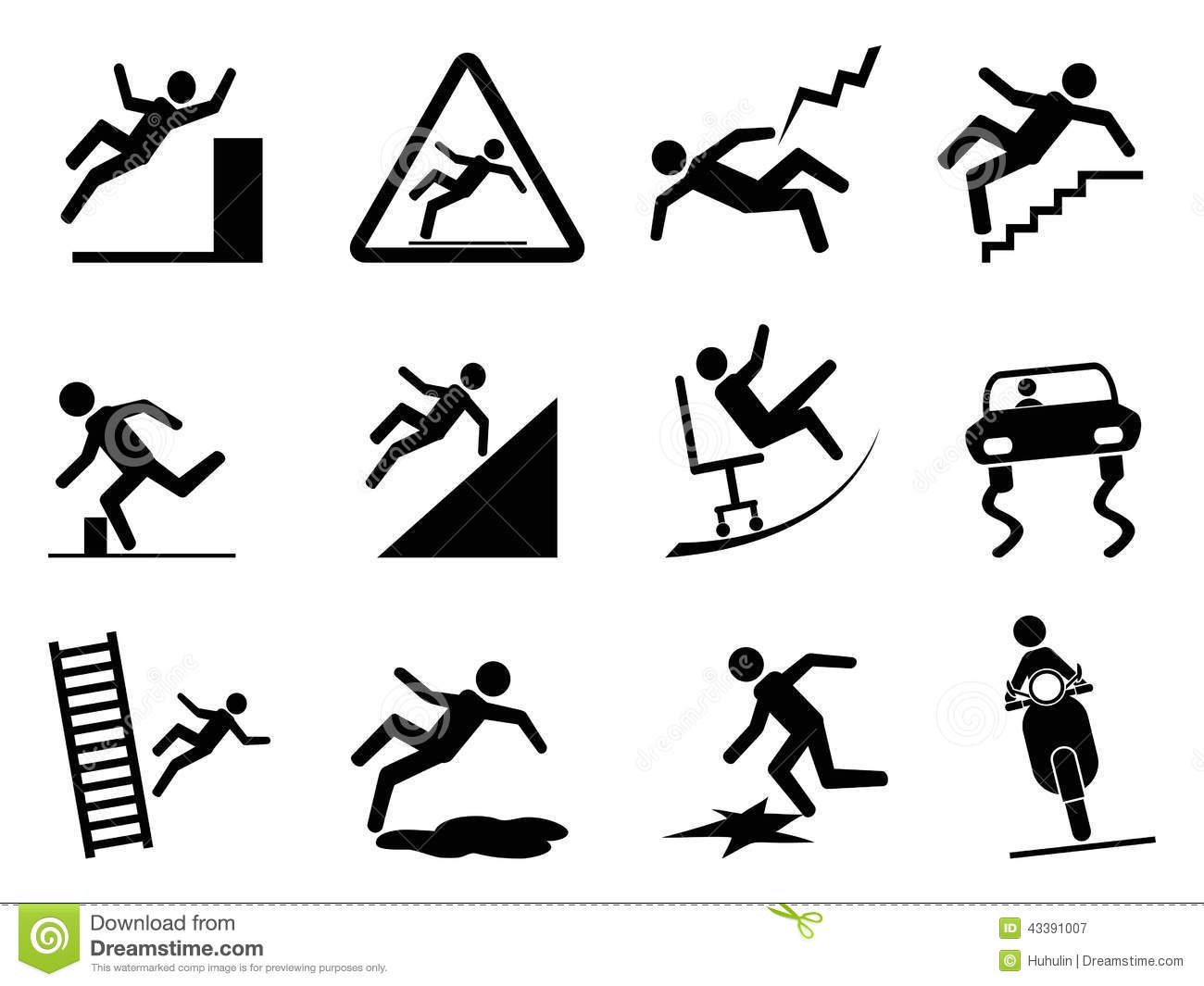 Slippery Icons Stock Vector Image 43391007