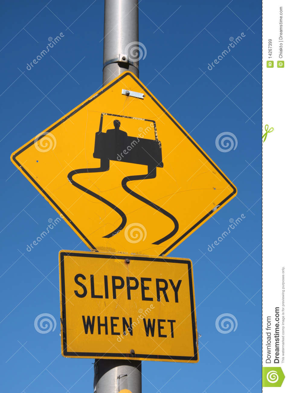 Slippery When Wet Royalty Free Stock Images Image 14267399