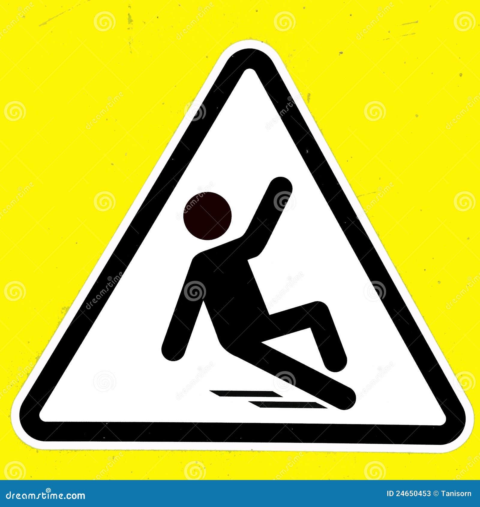 slippery wet floor sign stock photos image 24650453. Black Bedroom Furniture Sets. Home Design Ideas