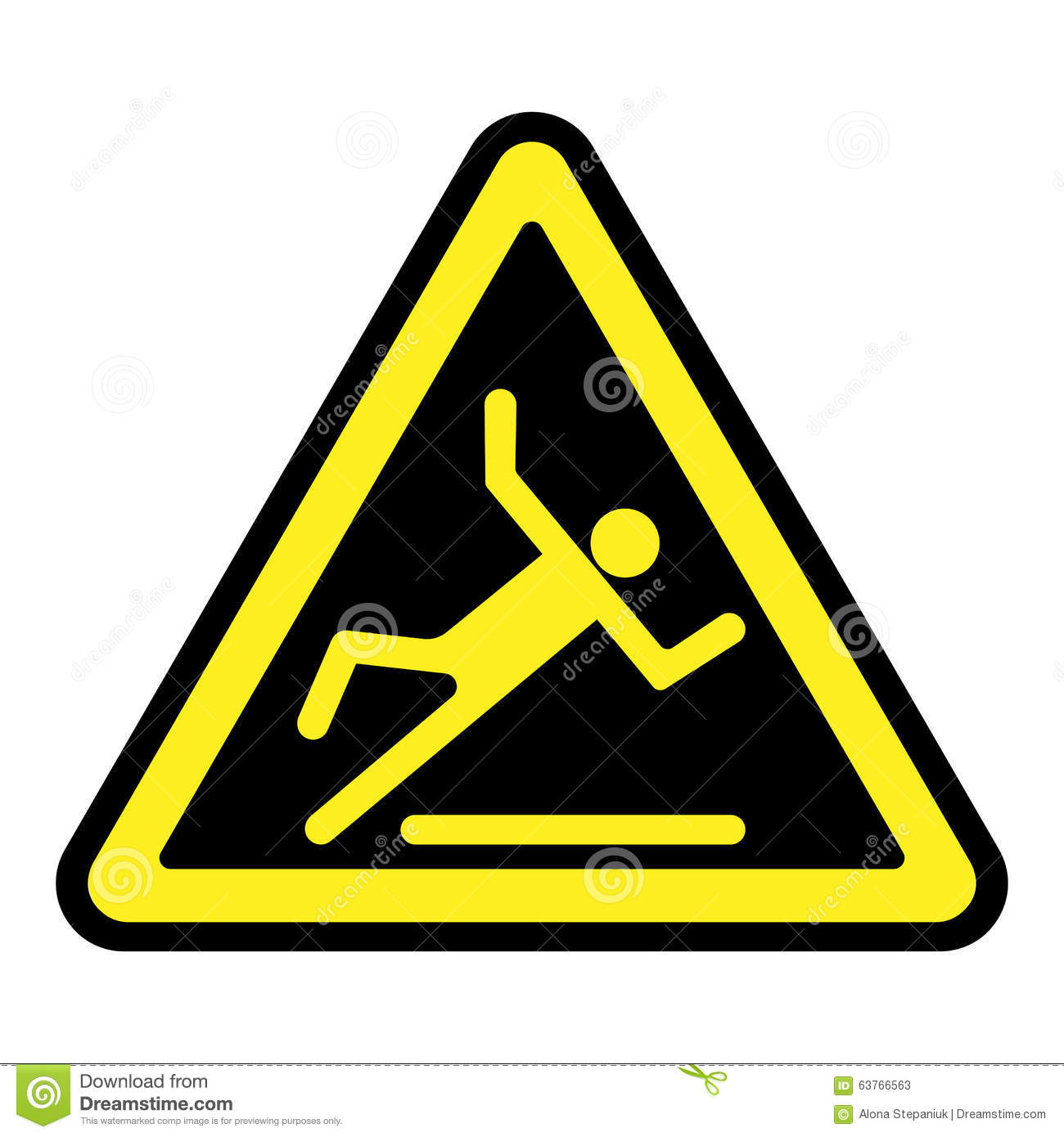Slippery Yellow Sign Stock Vector Image 63766563