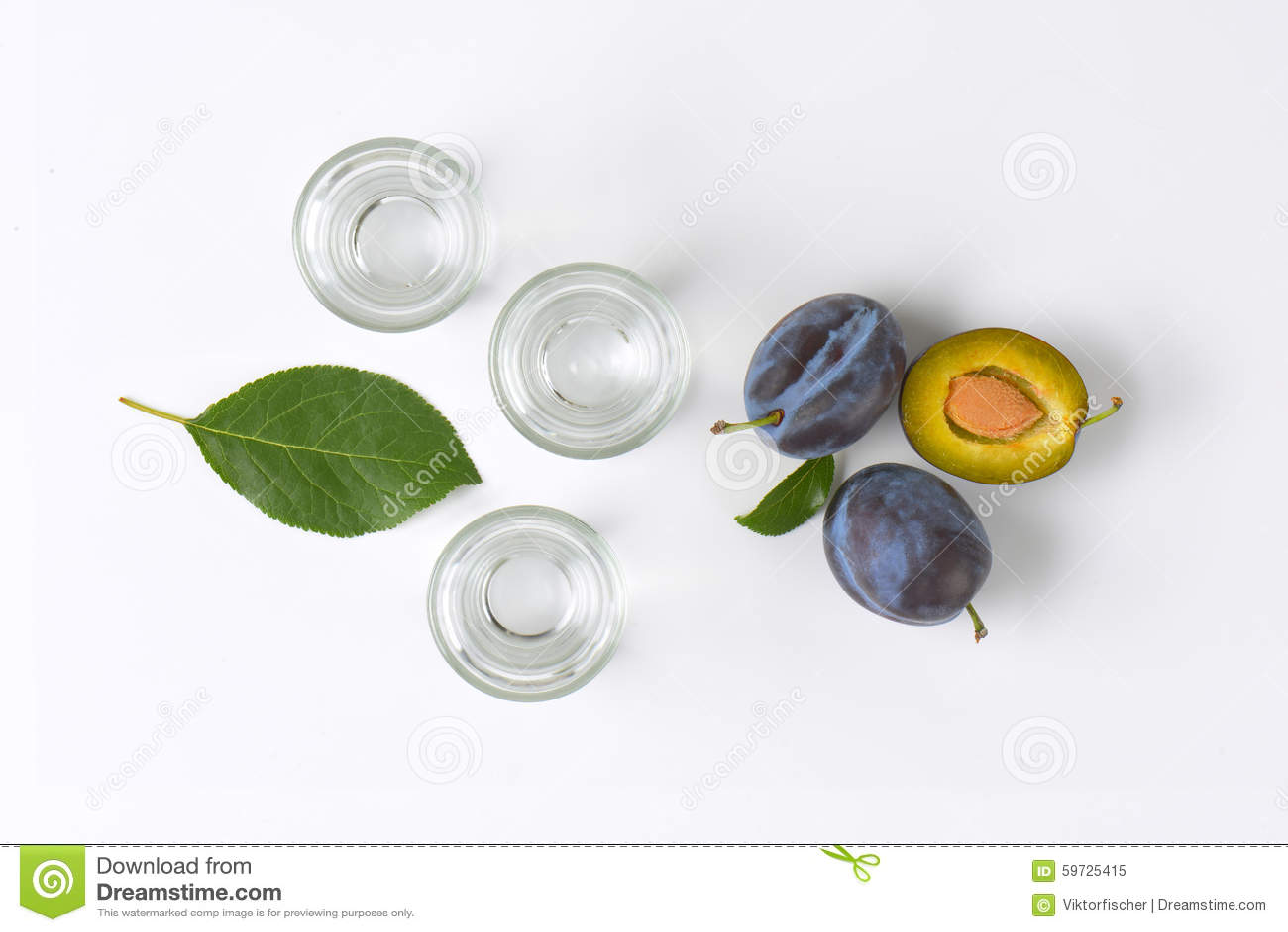 Slivovitz and plums
