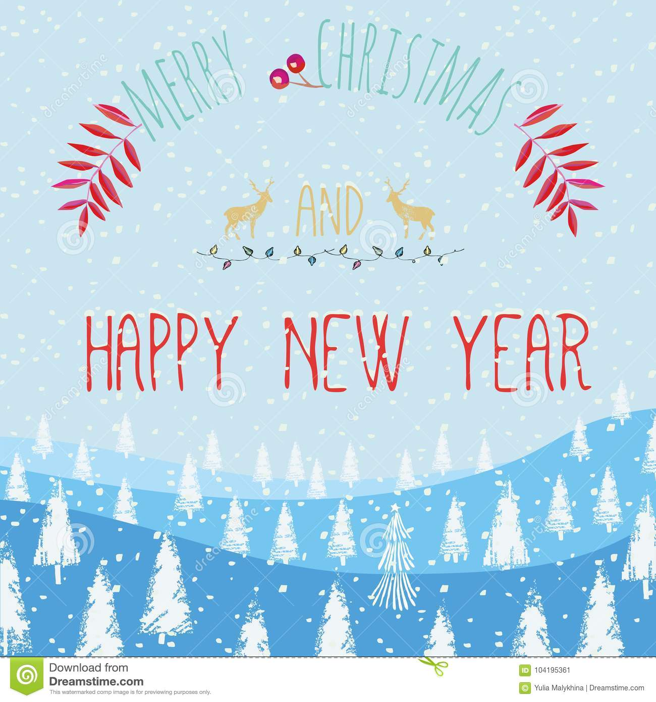 slogan merry christmas and happy new year
