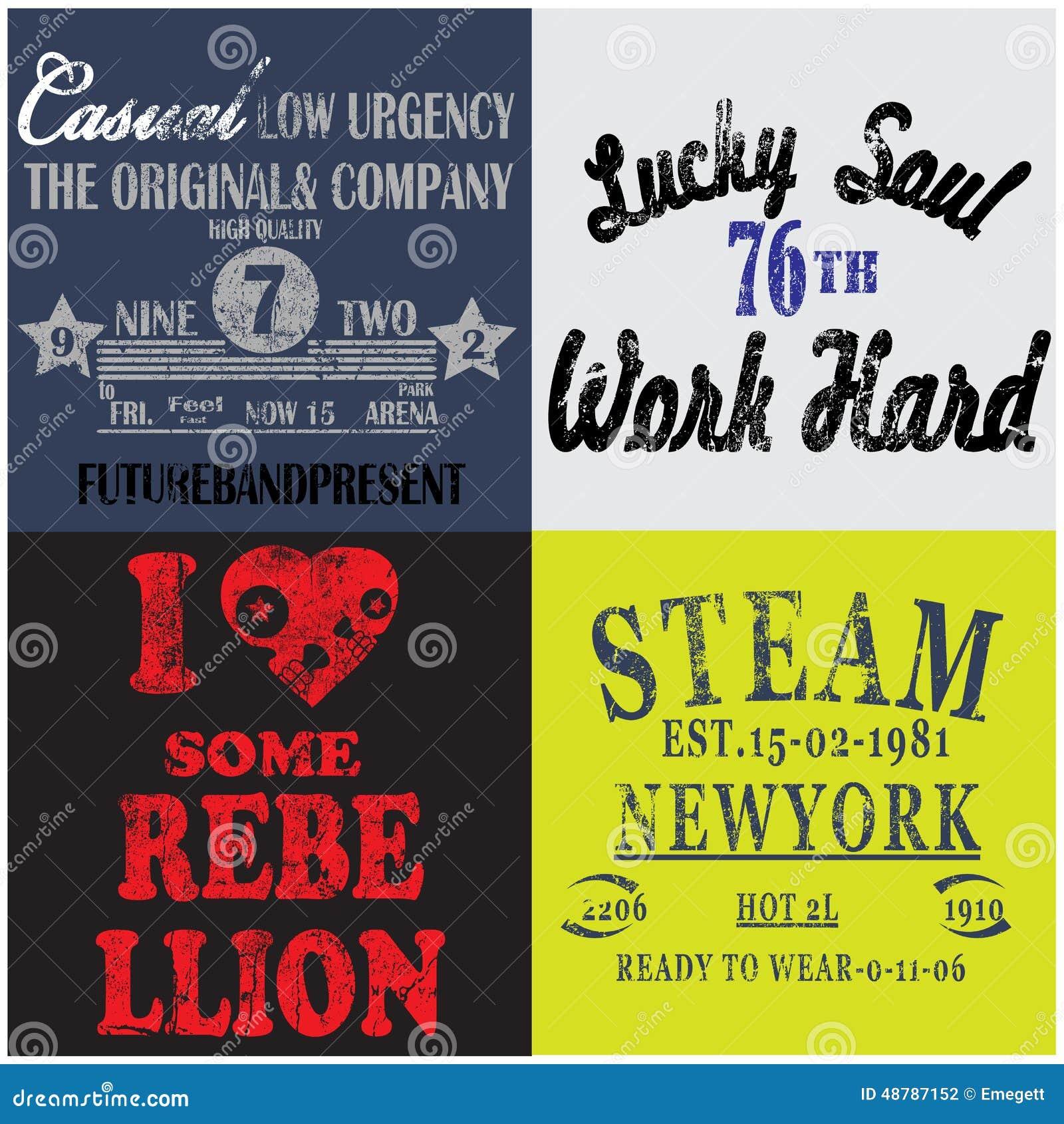Slogan set man t shirt graphic design stock vector image for T shirt printing business plan