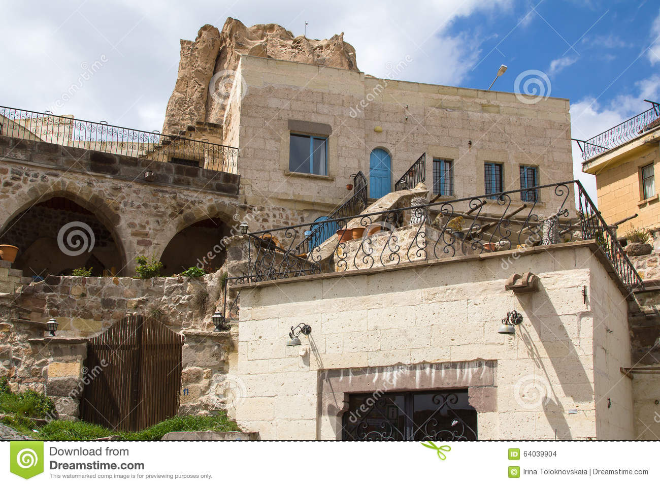 On The Slopes Of The Fortress Of Uchisar Stock Photo
