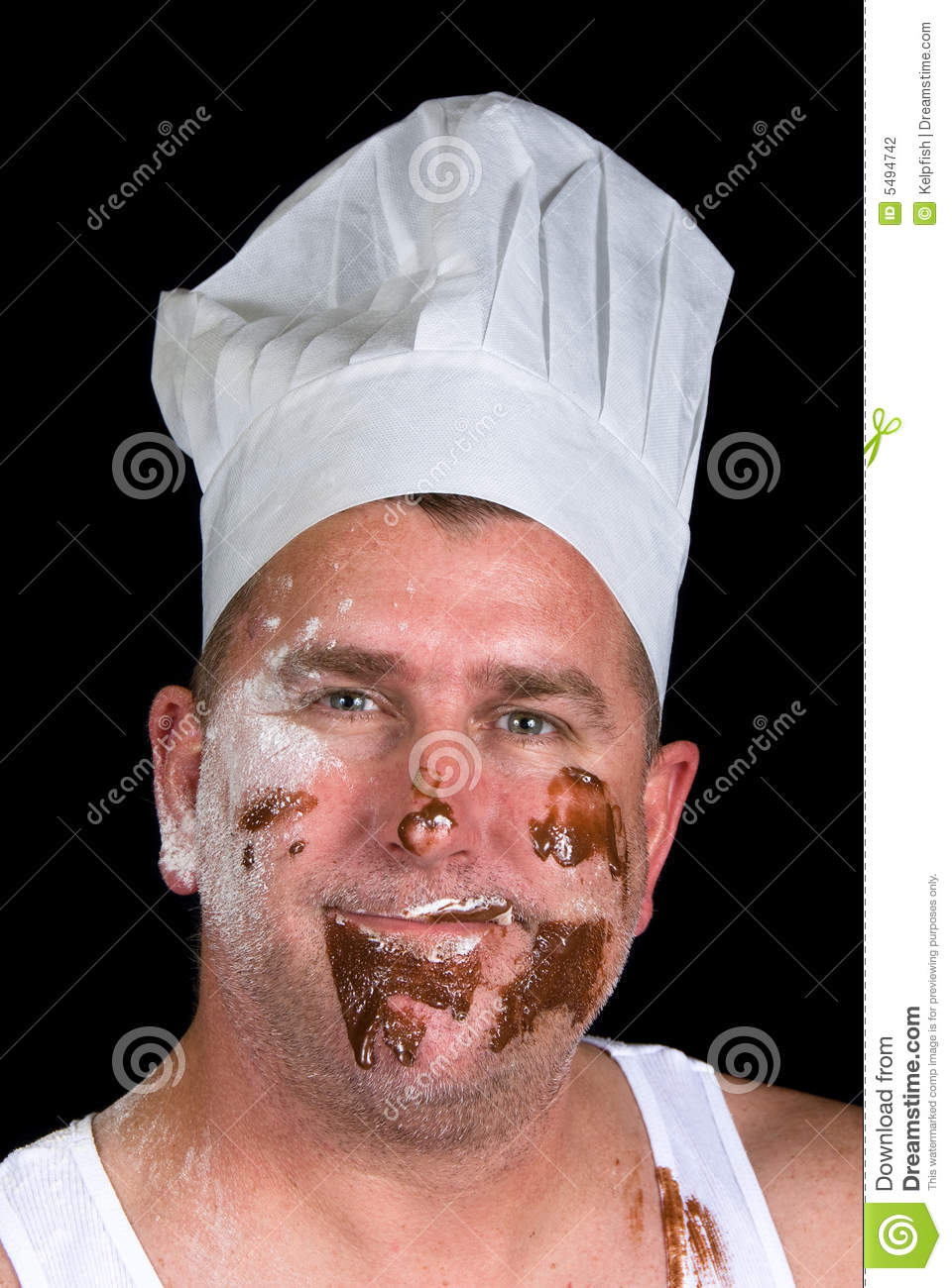 Sloppy Chef Stock Photography Image 5494742