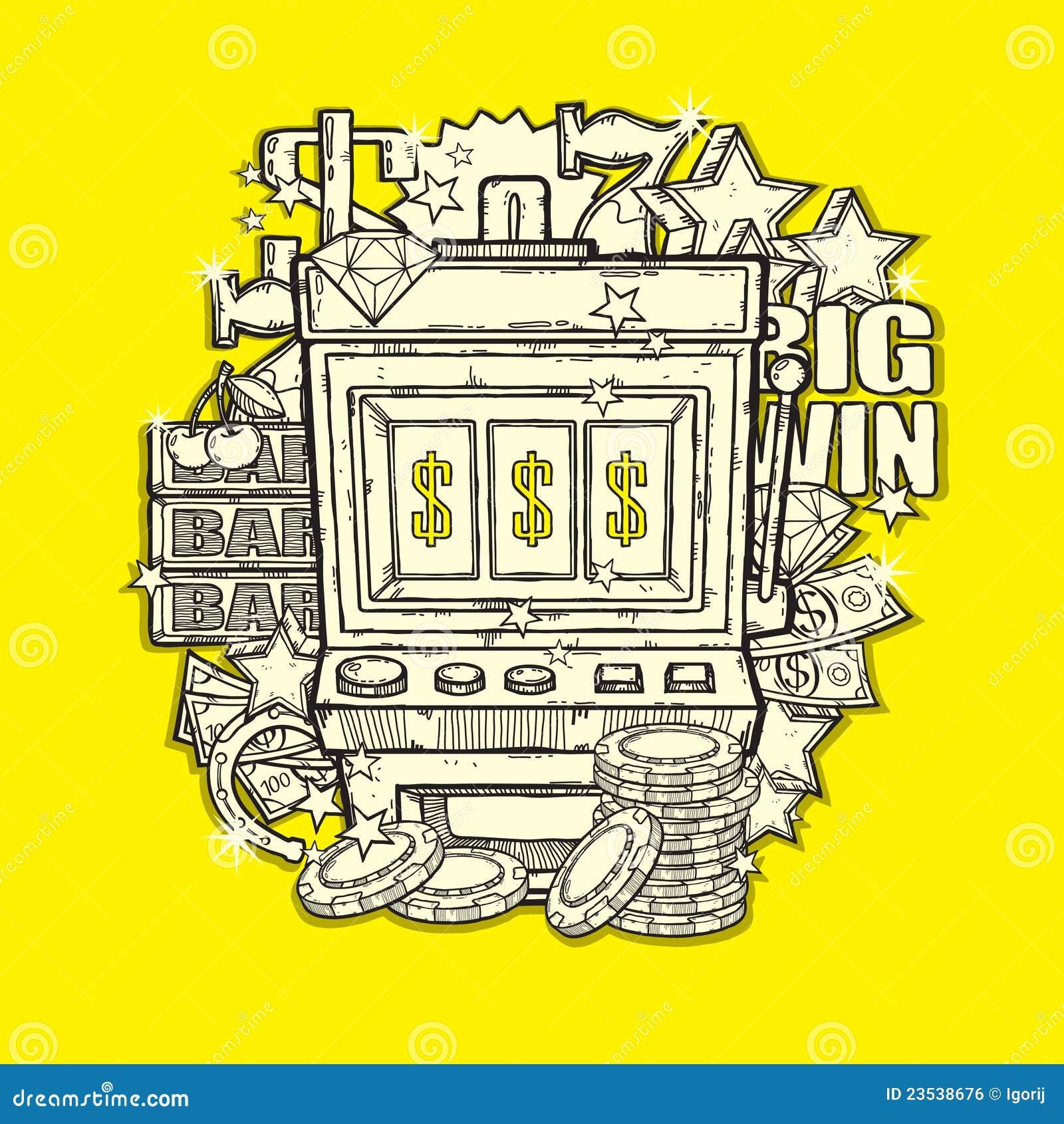 slot machine royalty free stock image image 23538676. Black Bedroom Furniture Sets. Home Design Ideas