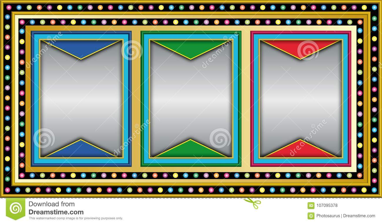 Slot Machine With Empty Frames Stock Vector - Illustration of bandit ...