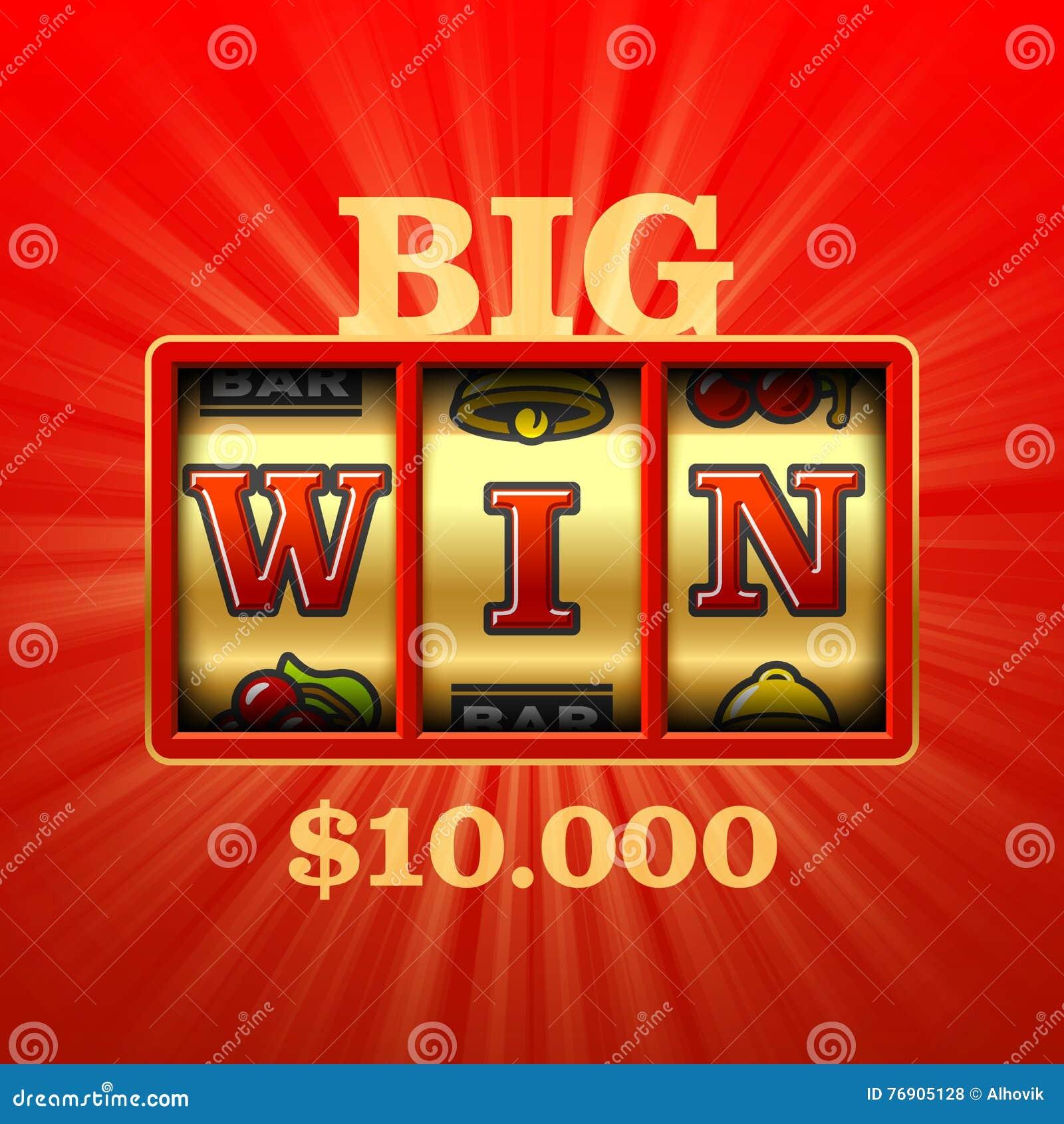Slot machine grande da vitória