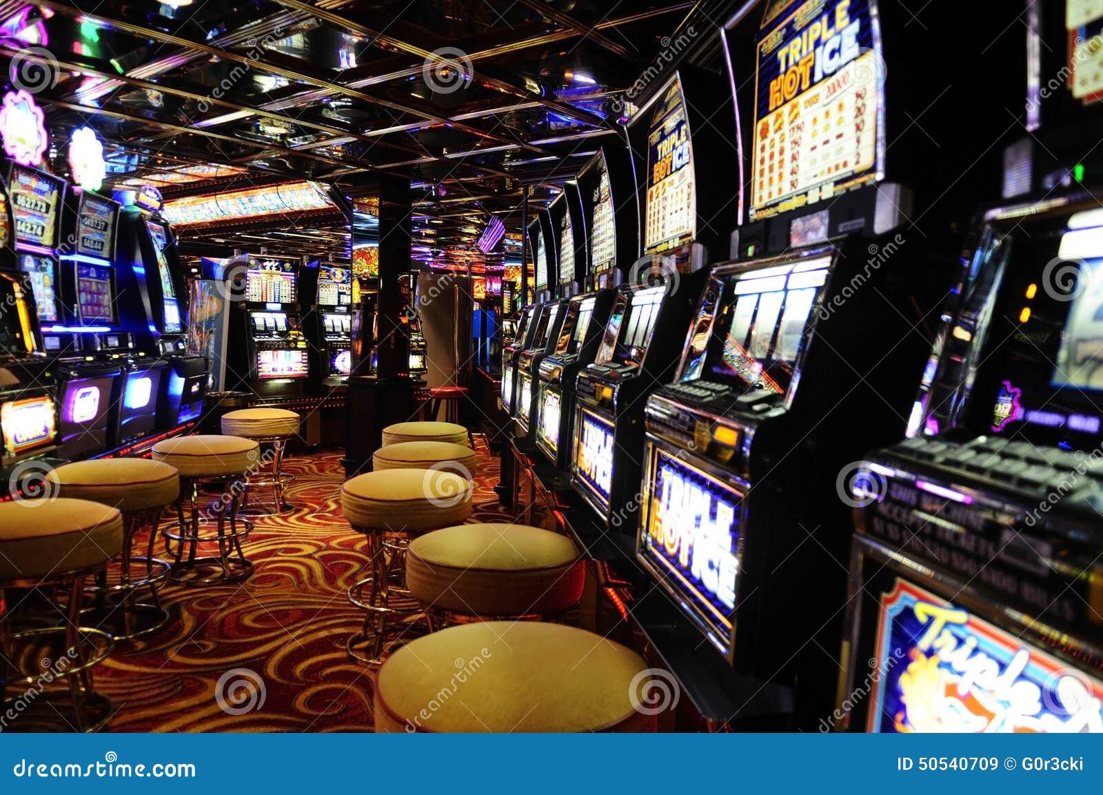 Slot Machines Casino Interior Cash Games Revenue