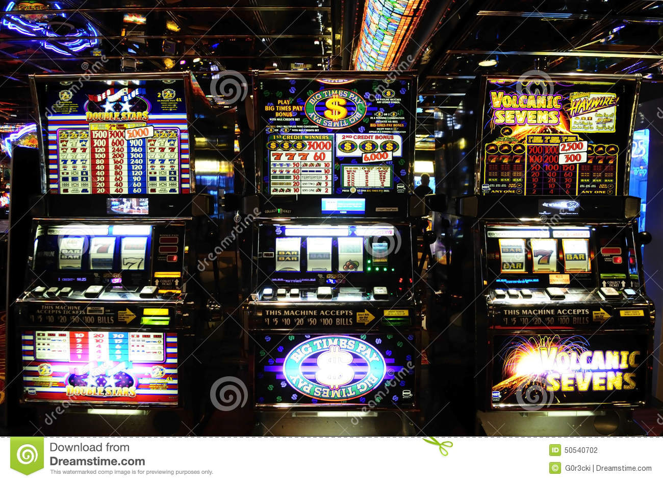 Slot Machines Casino Money Games Luck Editorial