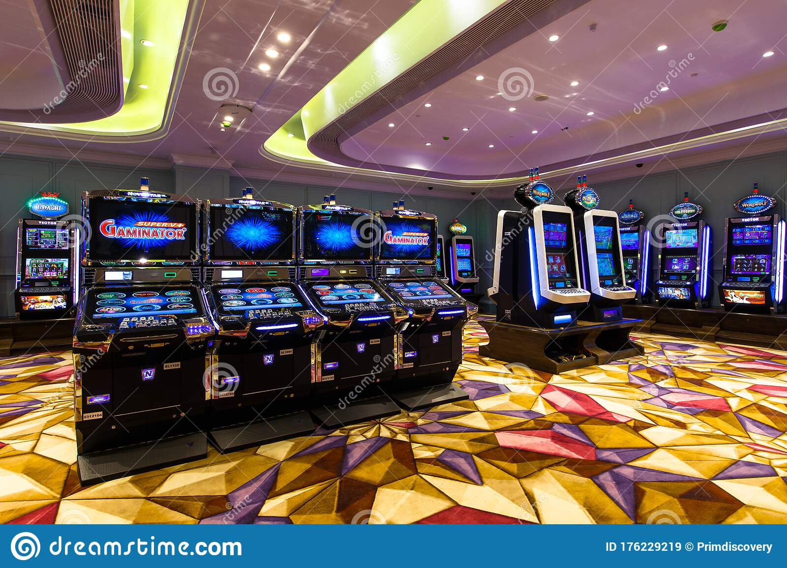 Slot Machines A One Armed Bandit In A New Casino In The Gambling Zone In Russia Without People Editorial Stock Image Image Of Addiction Lucky 176229219