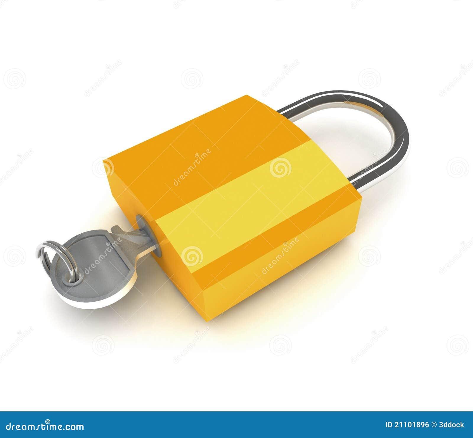 Slot met sleutel royalty vrije stock afbeelding for Ladenblok met slot