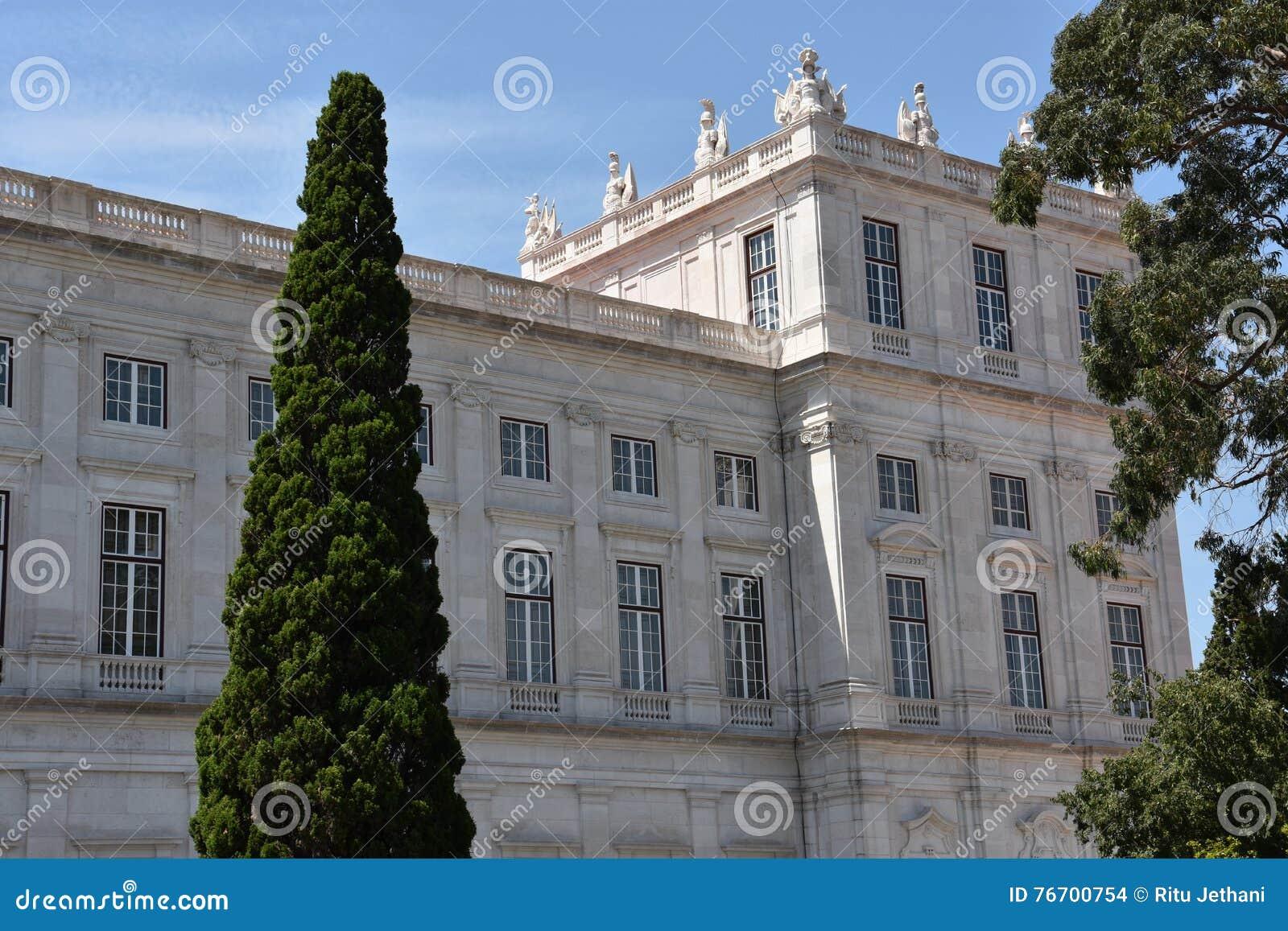 Slott av Ajuda i Lissabon, Portugal